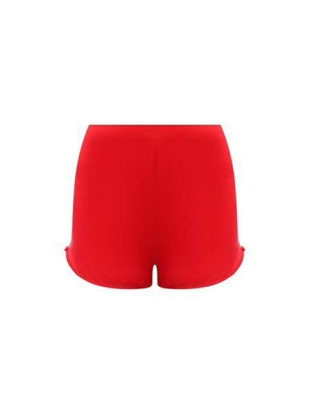 Ватные тонкие шелковые красные шорты Cotton Club