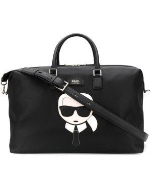 Сумка на плечо круглая дорожняя Karl Lagerfeld