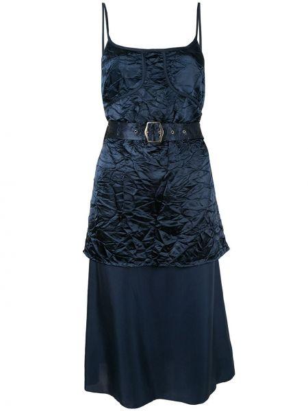 Тонкое платье миди на бретелях на молнии без рукавов Sies Marjan