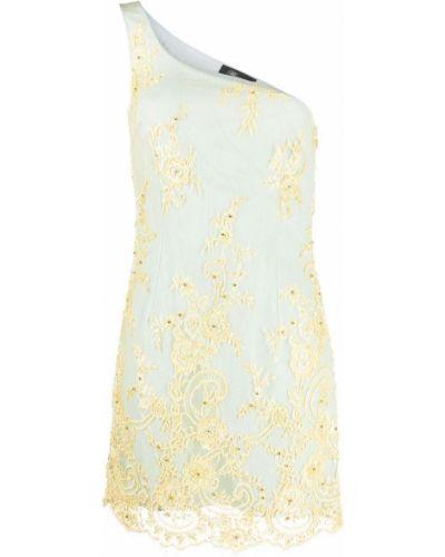 Платье с вышивкой - синее Blumarine