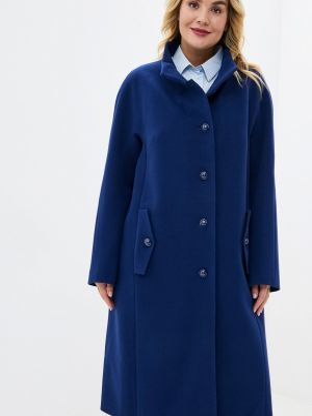 Синее зимнее пальто с капюшоном Gamelia