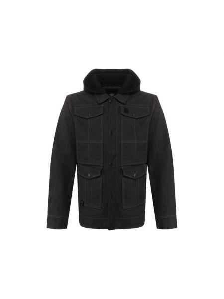Хлопковая черная куртка с подкладкой Harley Davidson