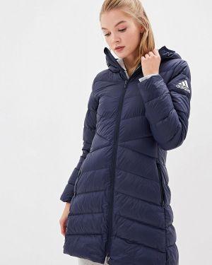 Куртка осенняя синий Adidas