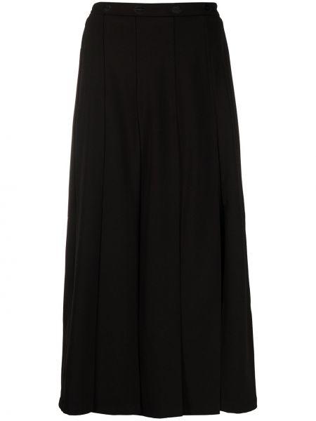 Черная юбка с вышивкой Markus Lupfer