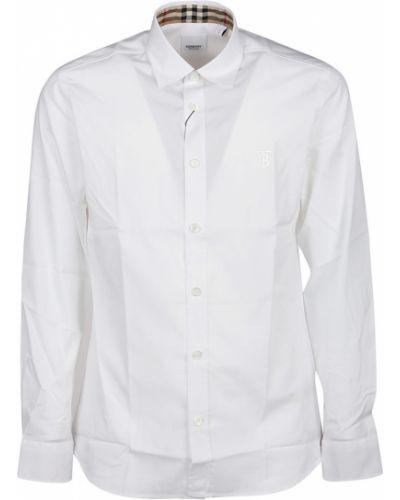 Biała koszula z kapturem Burberry
