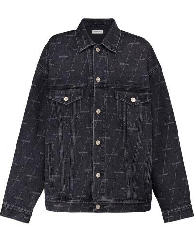 Хлопковая джинсовая куртка - черная Balenciaga
