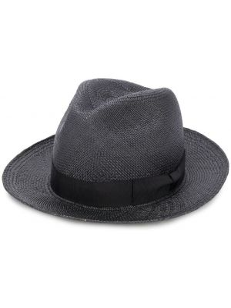 Плетеные черные шляпа с бантом Yohji Yamamoto