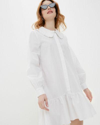Белое платье-рубашка Mbym