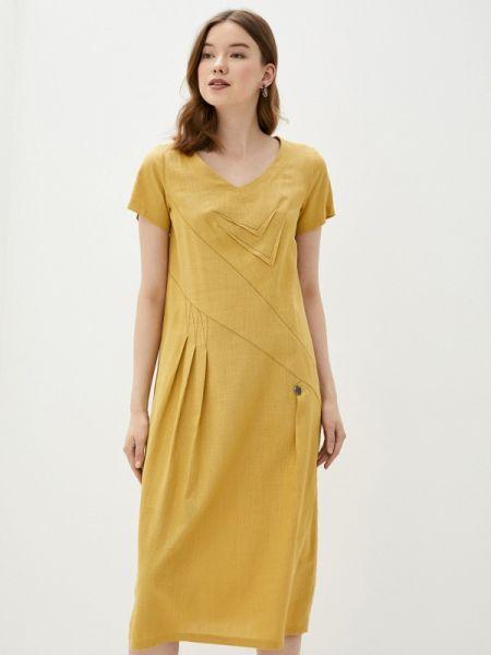 Желтое повседневное платье D`imma