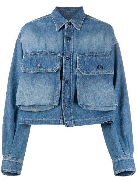 Bawełna niebieski klasyczny jeansy z kieszeniami z kołnierzem R13