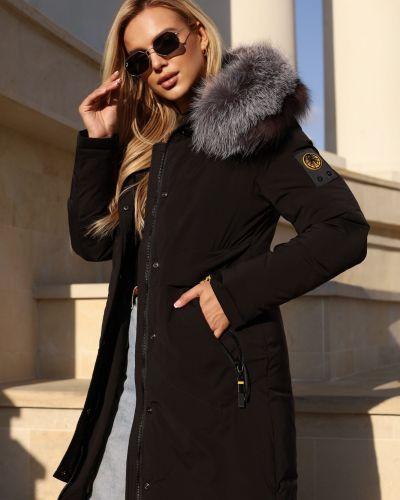 Куртка с карманами - черное Visdeer