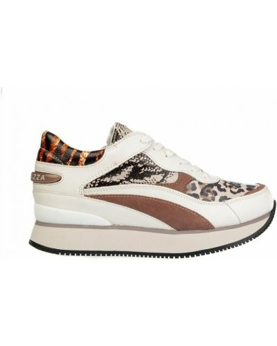 Brązowe sneakersy na koturnie Apepazza