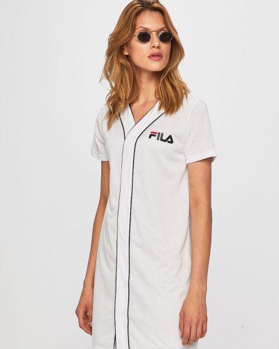 Платье прямое с V-образным вырезом Fila
