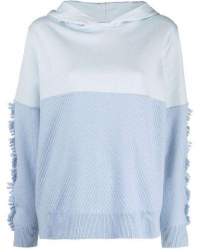 Niebieska z kaszmiru bluza Barrie