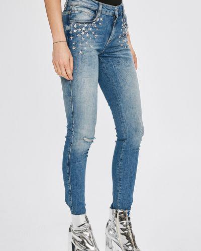Джинсы-скинни с эффектом потертости на пуговицах Guess Jeans