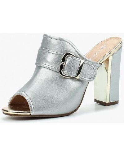Сабо кожаные серебряного цвета Vivian Royal