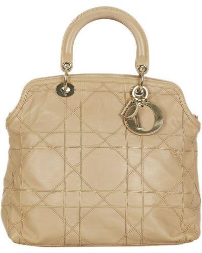 Brązowa torebka skórzana Dior Vintage