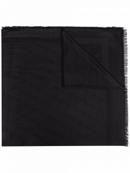 Черный шарф с принтом Elisabetta Franchi