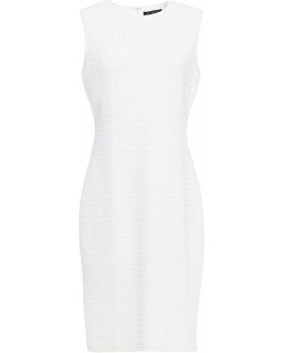 Платье твидовое - белое St. John