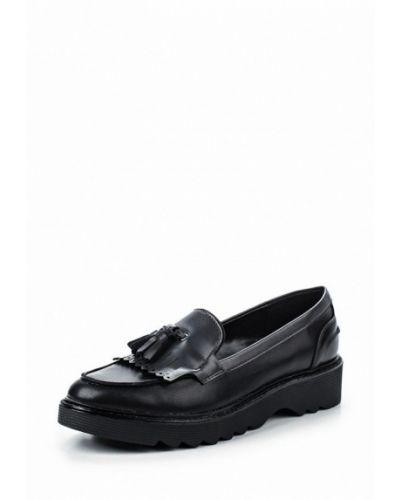 Лоферы черные на каблуке Bata