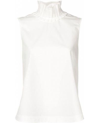 Блузка без рукавов на пуговицах с воротником-стойкой Fendi