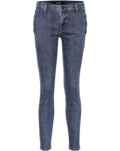 Bawełna niebieski bawełna zawężony obcisłe dżinsy J-brand