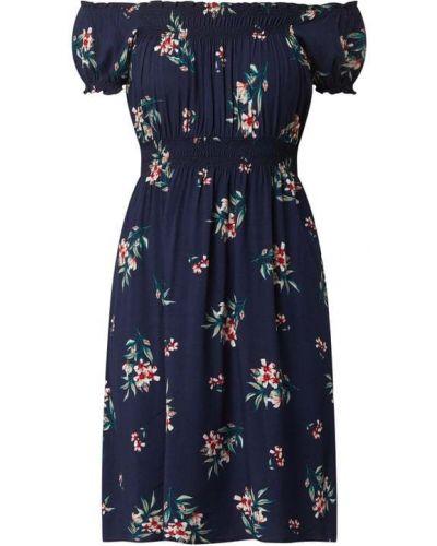 Niebieska sukienka mini rozkloszowana z wiskozy Apricot