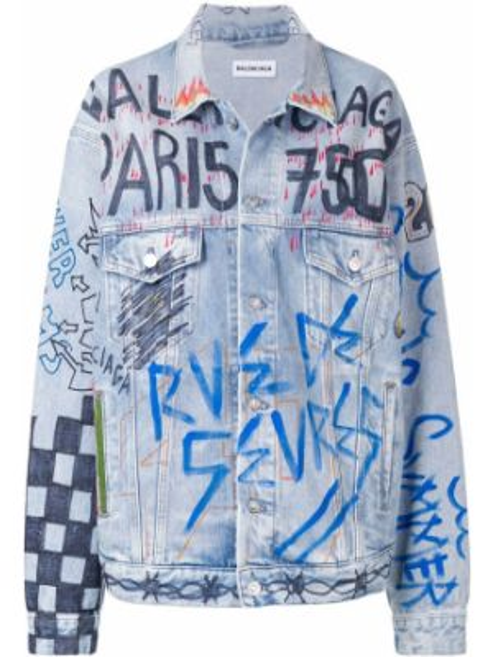 Джинсовая куртка оверсайз на пуговицах Balenciaga