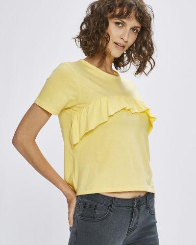 Желтый топ с оборками Answear