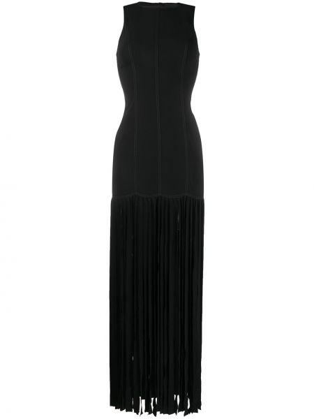 Платье макси без рукавов - черное Bevza