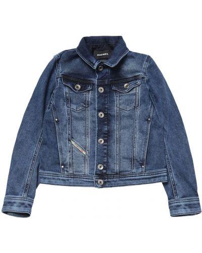 Niebieski kurtka jeansowa Diesel