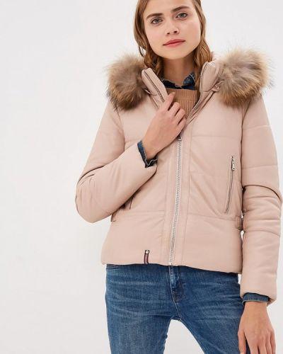 Кожаная куртка осенняя розовая Oakwood