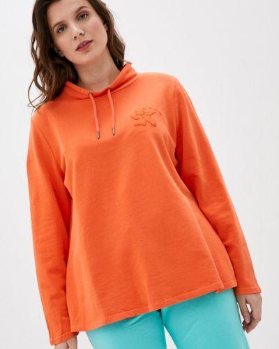 Оранжевая весенняя толстовка Ulla Popken