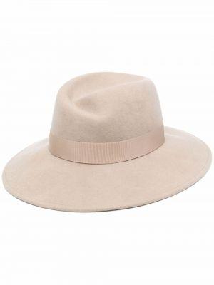 Beżowa czapka wełniana Borsalino
