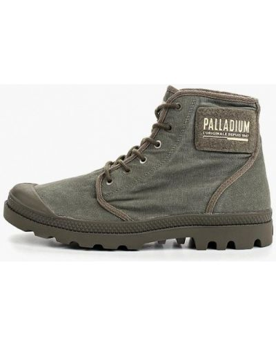 Высокие кеды серые демисезонный Palladium