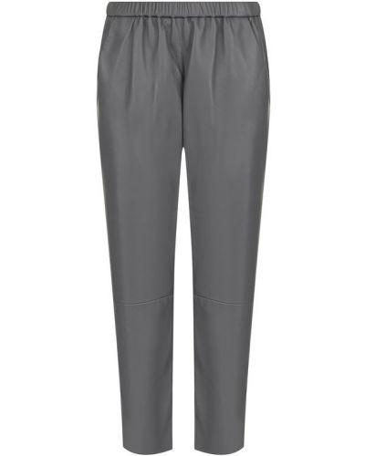 Укороченные брюки кожаные с подкладкой Drome