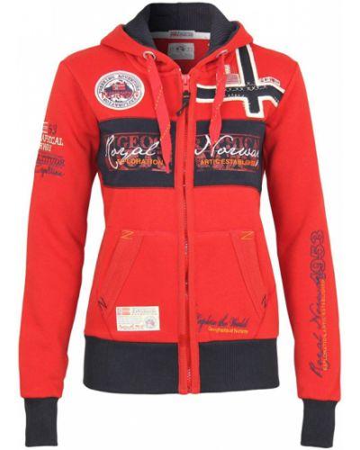 Красная кофта с капюшоном Geographical Norway
