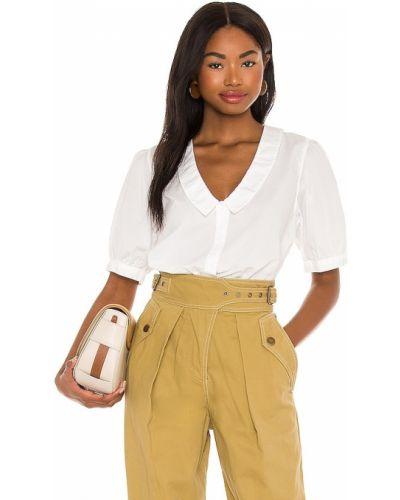 Хлопковая белая блузка с воротником Nation Ltd
