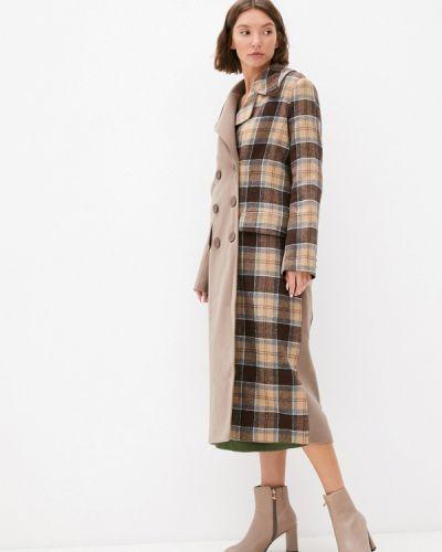 Пальто двубортное - коричневое Theone By Svetlana Ermak
