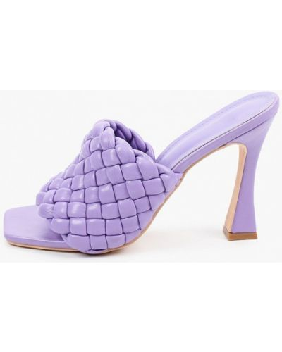 Фиолетовые кожаные сабо Sergio Todzi