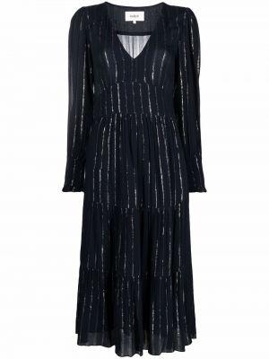 Платье макси с длинными рукавами - синее Ba&sh