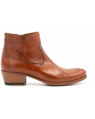 Brązowe ankle boots Pantanetti