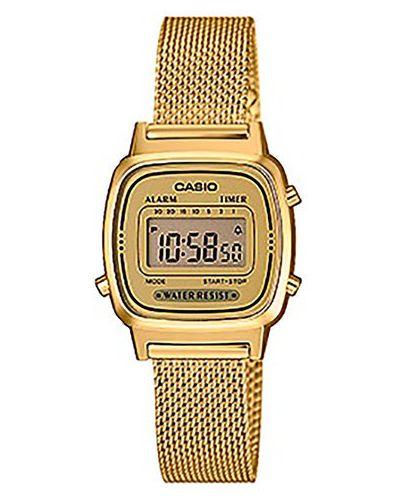 Żółty złoty zegarek vintage Casio
