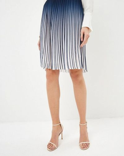 Плиссированная юбка синяя Karl Lagerfeld