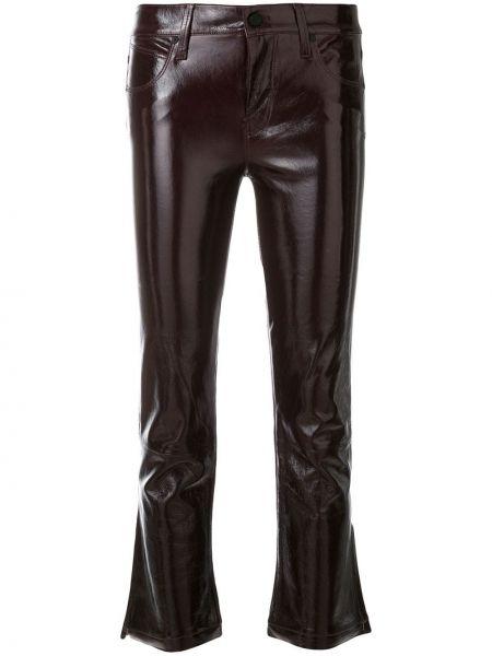 Укороченные брюки брюки-сигареты красный Rta