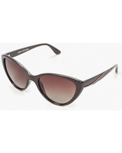 Солнцезащитные очки круглые коричневый Noryalli