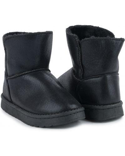 Брендовые кожаные черные угги Kdx/kidix