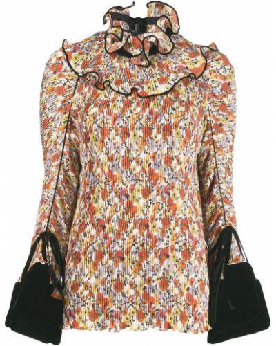 Блузка с длинным рукавом в полоску батник Tory Burch