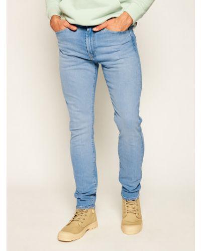 Zawężony niebieski obcisłe dżinsy Jeansy Skinny Fit Levi's®
