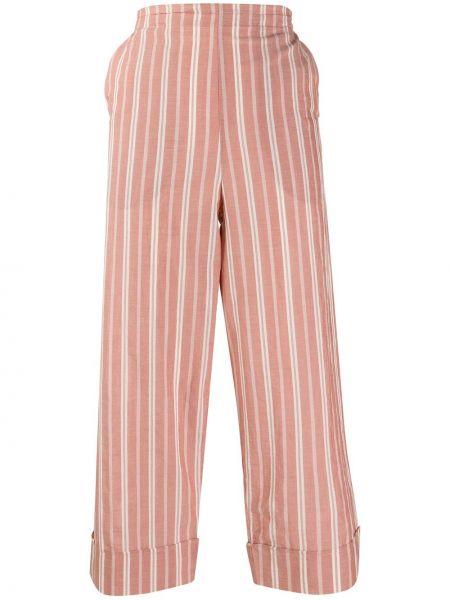 Укороченные брюки розовый в полоску Barena